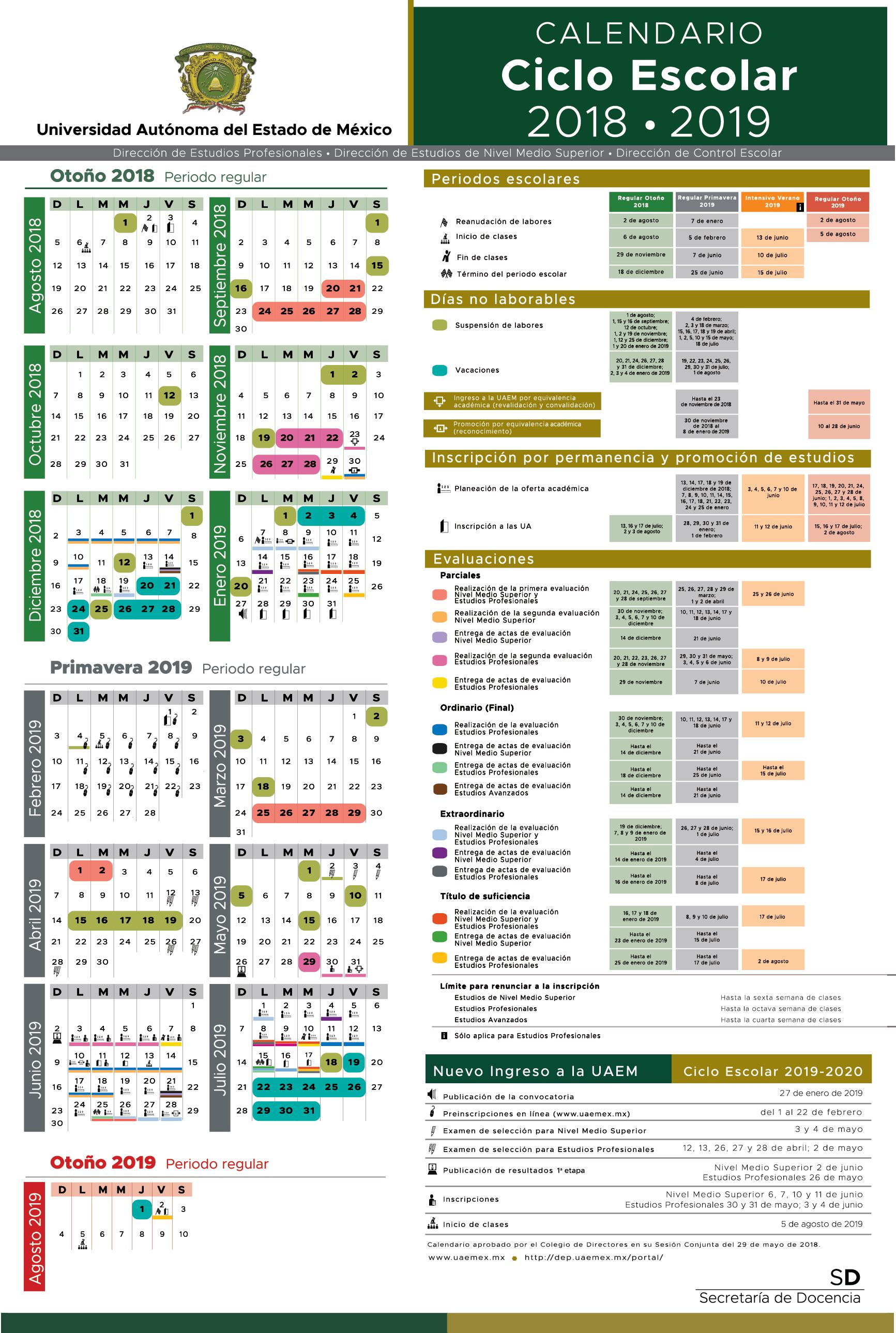 Calendario Escolar 2018