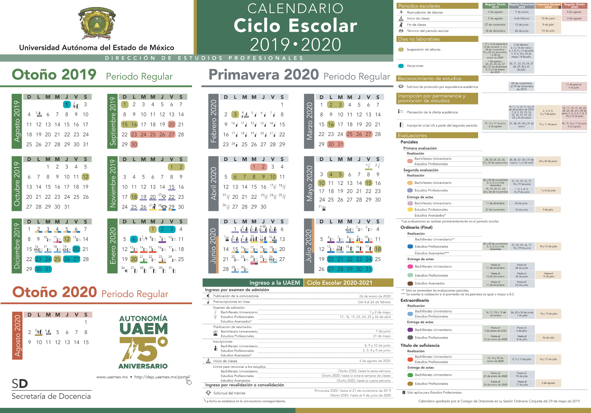 Calendario Junio Julio 2020.Calendario